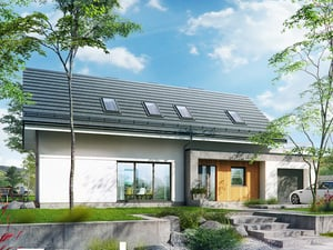 Projekt domu ARCHON+ Dom medzi tujami