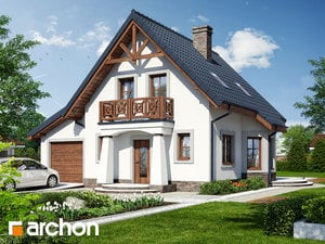 Projekt domu ARCHON+ Dom uprostred hrozna (G) ver.3