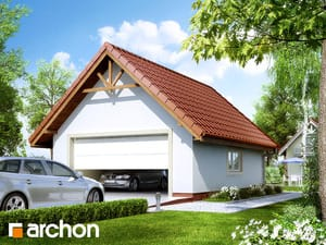 Projekt domu ARCHON+ Garáž pre dve autá G6