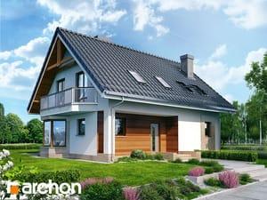 Projekt domu ARCHON+ Dom uprostred divozelu