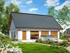 Projekt domu ARCHON+ Garáž pre tri autá G8