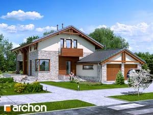 Projekt domu ARCHON+ Dom pod ebenovníkom