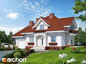 Projekt domu ARCHON+ Dom uprostred železníkov (P)