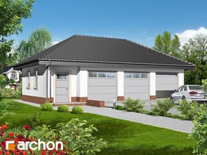 Projekt domu ARCHON+ Garáž pre tri autá G3a