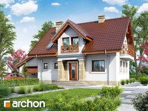 Projekt domu ARCHON+ Dom v rezedách ver.2