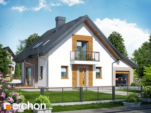 Projekt domu ARCHON+ Dom medzi rododendronmi 4 (N)