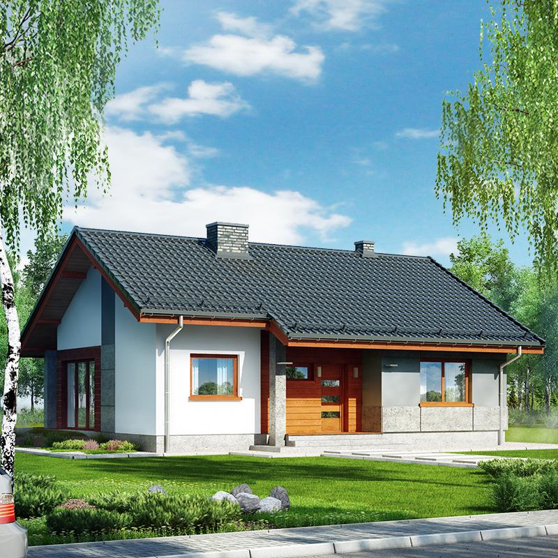 Dom pod lipou - Vizualizácia 1