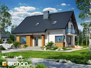 Projekt domu ARCHON+ Dom pri lesnej jabloni 4