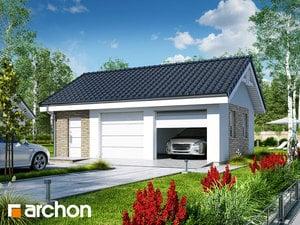 Projekt domu ARCHON+ Garáž pre dve autá G20