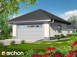 Projekt domu ARCHON+ Garáž pre dve autá G1a ver.2