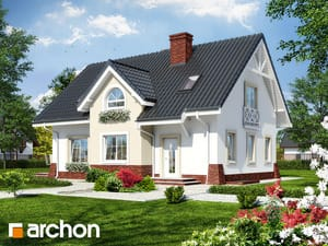 Projekt domu ARCHON+ Dom uprostred hrochora 4 ver.2