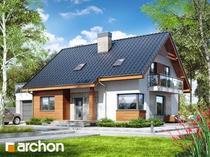 Projekt domu ARCHON+ Dom pri lesnej jabloni 4 (G)