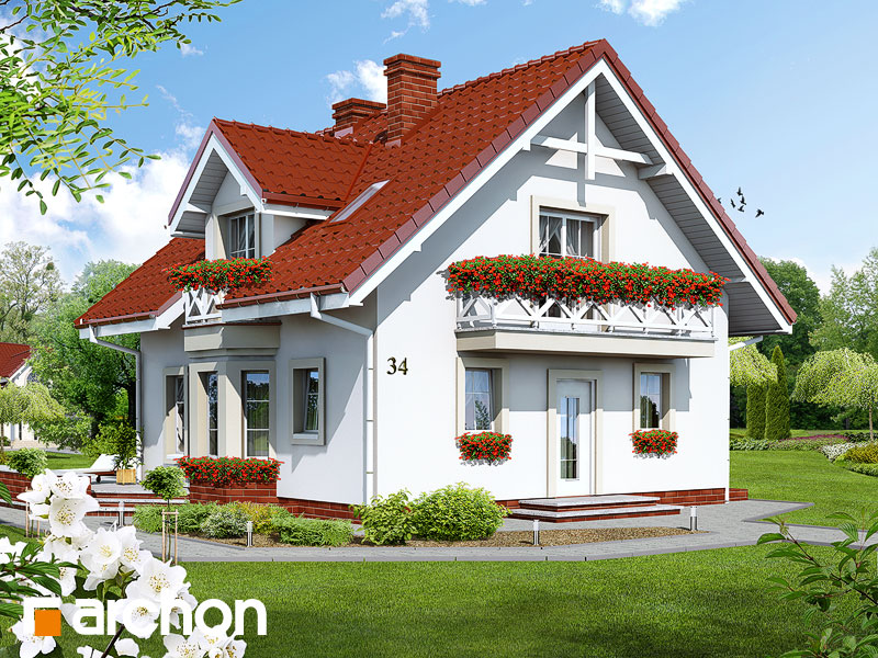 Dom medzi rododendronmi (P) ver.2 - Vizualizácia 1