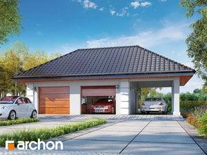 Projekt domu ARCHON+ GARÁŽ PRE DVE AUTÁ G28