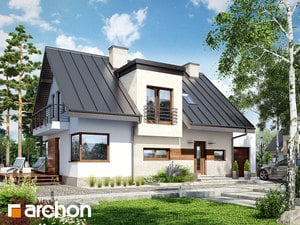 Projekt domu ARCHON+ Dom v amarilkách 3 ver.2