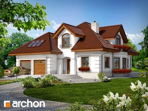 Projekt domu ARCHON+ Dom v monarde (G2P) ver.2