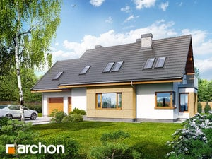 Projekt domu ARCHON+ Dom v nevädzách (N) ver.2