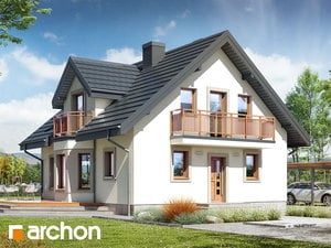 Projekt domu ARCHON+ Dom medzi rododendronmi 5 (W) ver.2