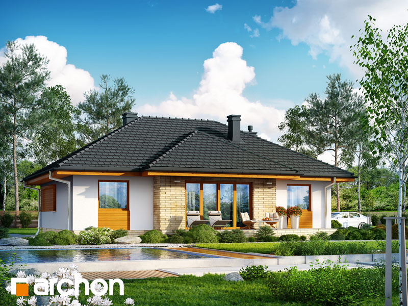 Dom v akébii (W) - Vizualizácia 2