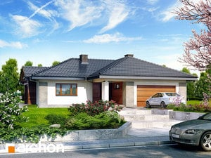 Projekt domu ARCHON+ Dom medzi bergéniami 2 ver.2