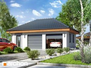 Projekt domu ARCHON+ Garáž pre dve autá G25