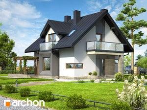 Projekt domu ARCHON+ Dom medzi rododendronmi (N) ver.2