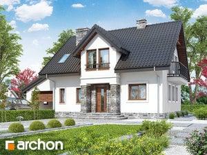 Projekt domu ARCHON+ Dom v rezedách ver.3