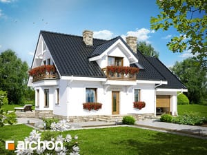 Projekt domu ARCHON+ Dom medzi rododendronmi 6 (P) ver.2
